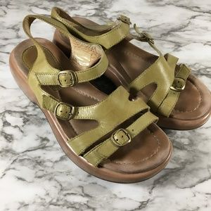 Dansko Womens Strappy Leather Sandals
